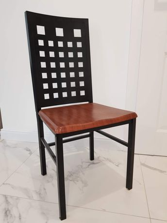 Krzesło metalowe czarne loftowe