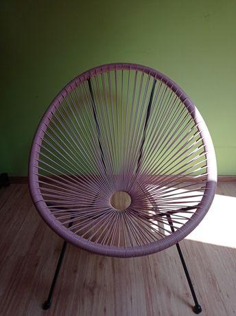 Krzesło wypoczynkowe UBBERUP różowe
