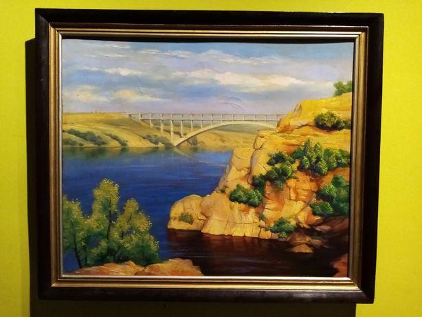 """Kudenko""""Stary Dniepr""""-piękny obraz olejny na płótnie!"""