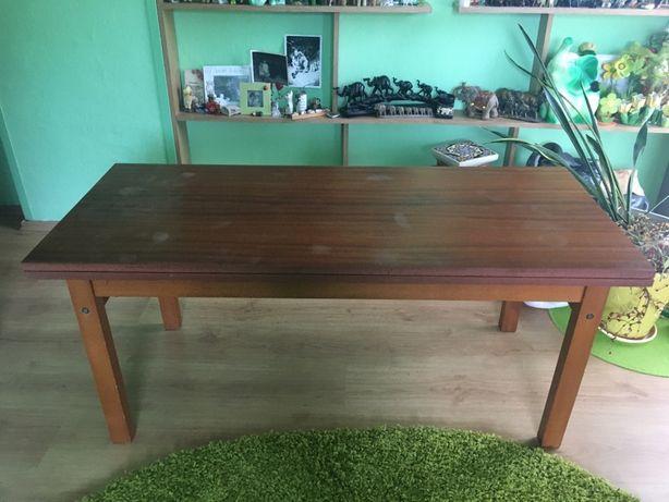 Ławostół lawa stol dwa w jednym drewno mahon
