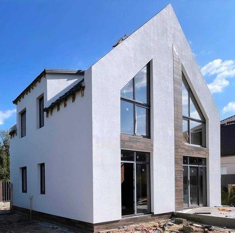 Новый современный дом 135м2 с видом на озеро в с. Стоянка.