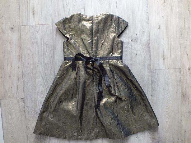 Sukienka wizytowa świąteczna złota, rozm. 134