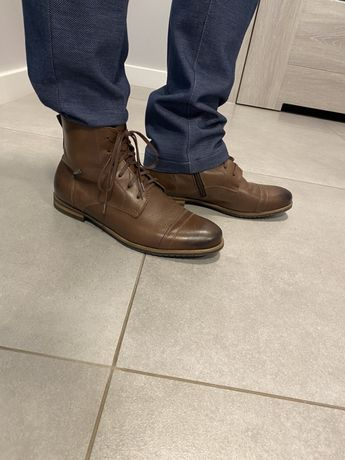 Męskie buty skórzane brązowe van horn rozmiar 40