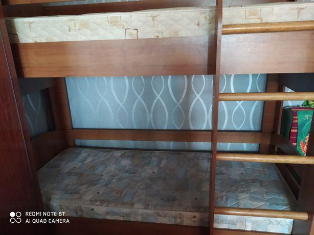 Двоярусне ліжко з ортопедичними матрасами 80*190 двухъярусная кровать