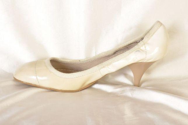 STEFANEL włoskie buty skóra naturalna rozm. 40