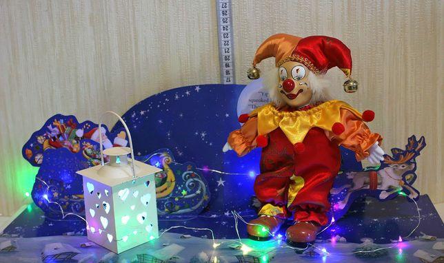 клоун керамический украшение декор фарфоровый шут новый год