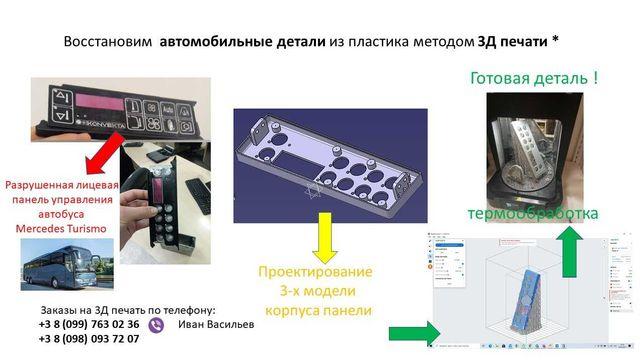 Восстановим детали из пластика методом 3D печати не дорого!!!