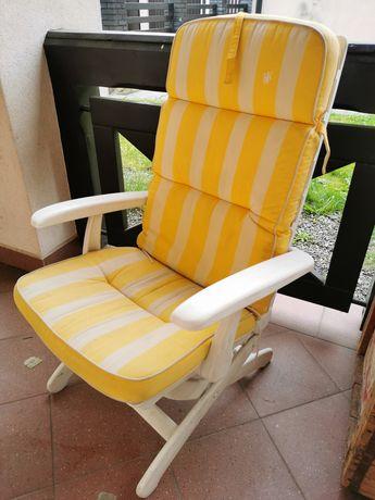 Krzesło ogrodowe leżak  2szt grube poduszki dwustronne