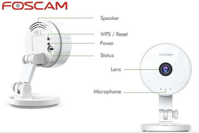 Kamera IP HD Foscam C1 Lite Wi-Fi Niania