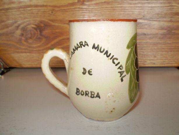 Caneca barro 1ª Festa da Vinha/Vinho Borba 1992