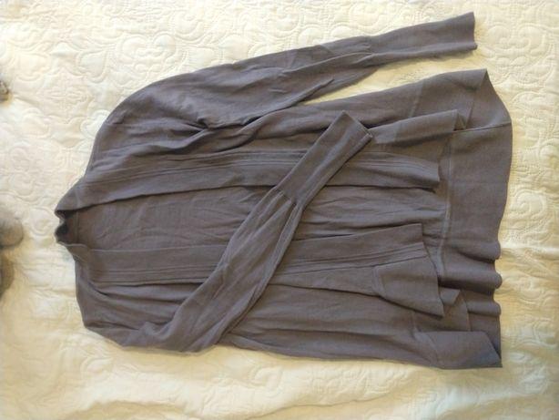 Wrzosowy sweterek 36 fioletowy