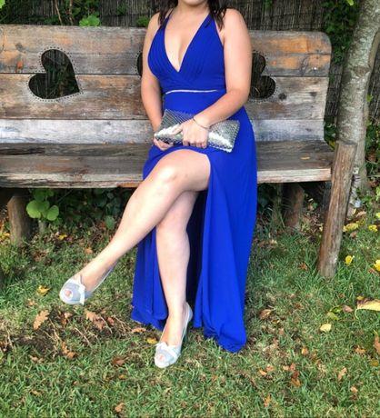 Vestido de cerimónia azulão