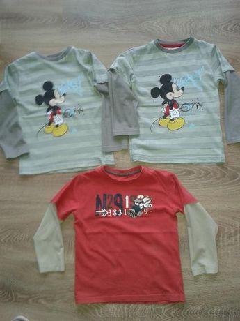 r116 bluzki Myszka Miki DISNEY,bluzka NEXT,koszula,bliźniaki,bliźnięta