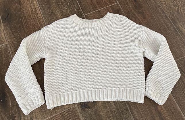 H&M biały sweter 11-12 lat Ideał!