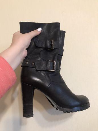 Женские кожанные осенни ботинки, сапожки, ботильоны