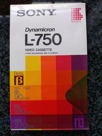NOVAS Cassetes Vídeo SONY sistema BETA Dynamicron L-750