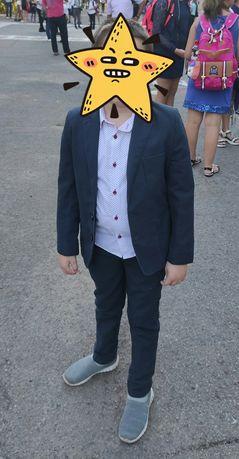 Стильная школьная форма на мальчика 6-7 лет, 2-ое брюк,школьный костюм