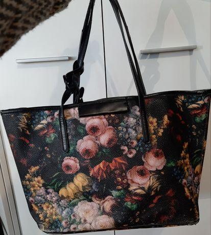 Śliczba torebka shopper Parafois w kwiaty
