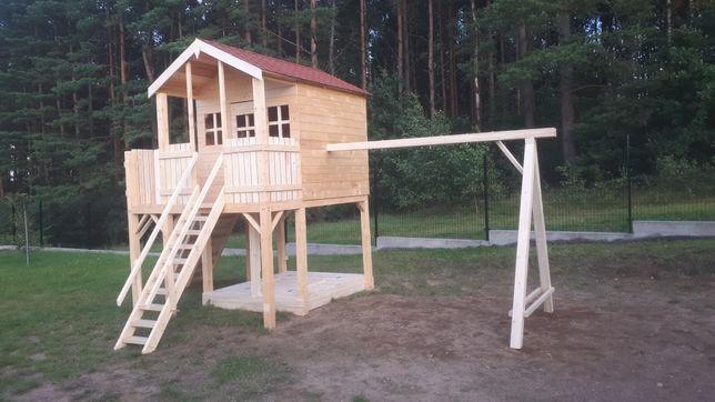 Plac zabaw  domek ogrodowy