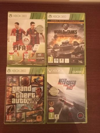 Gry Xbox 360 Fifa, GTA, Need for speed