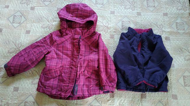 Осенне-зимняя курточка на девочку 3-5 лет
