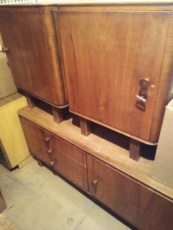 Meble zestaw lata 60te 70te szafka nocna komoda niska