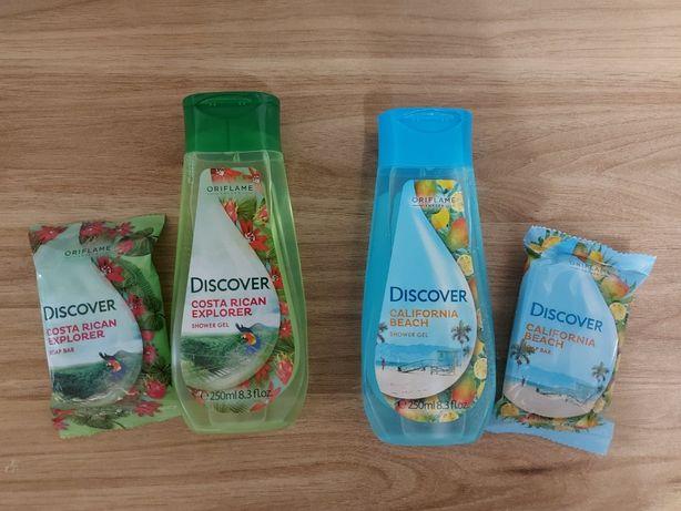 Zestaw kosmetyków - żele pod prysznic i mydełka