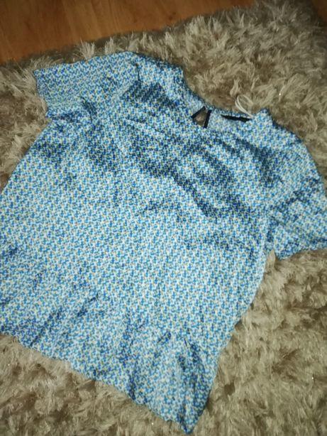 Bluzka koszula baskinka elegancka kropki ZARA BASIC XL