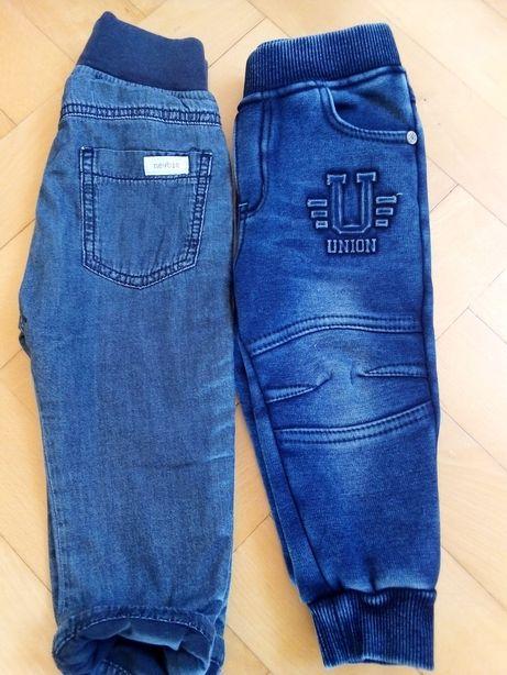 Spodnie dresowe 80/86 newbie i happy house jak nowe