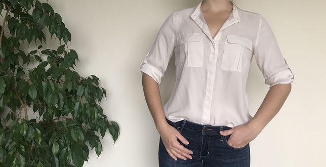 Koszula, H&M, pudrowy róż