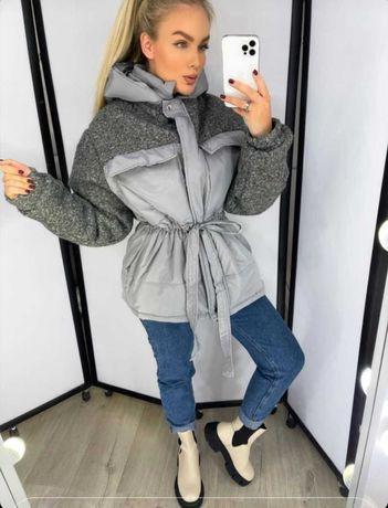 Трендова куртка, ост.розмір, сіра, М/L, демі, 750грн.Торг!