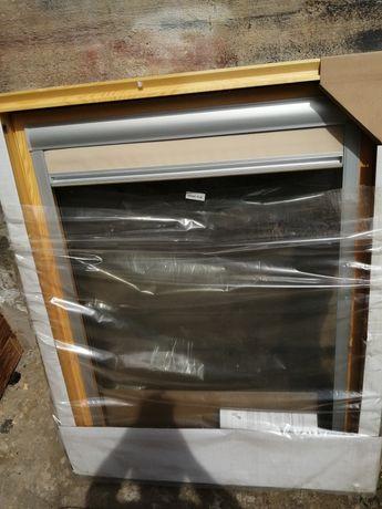 Okna dachowe fakro 94x118z roletami nowe