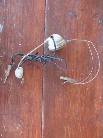 Stara słuchawka-miktotelefon nagłowny telefonistki- sygnowane MN-60 MB