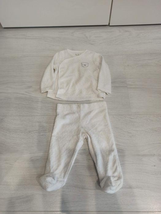 Białe pluszowe ubranko rozmiar 3-6miesięcy (chrzest itp.) Gliwice - image 1