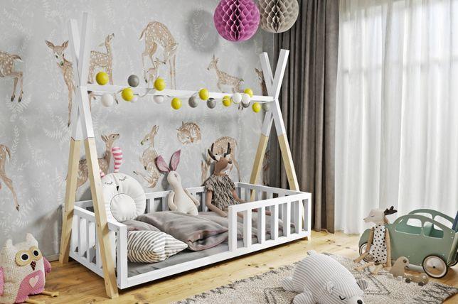 Łóżko TIPI z materacem gratis! Drewno sosnowe