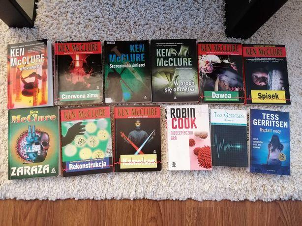 Książki thrillery medyczne Robin Cook, Ken Mcclure, Tess Gerritsen