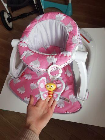 Krzesełko siedzisko siedzonko fotelik dziecięce różowe Fisher Price