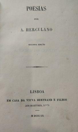 Poesias por A. Herculano - Edição de 1860