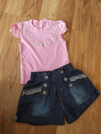 Летний комплект,шорты, футболка 2-3 года