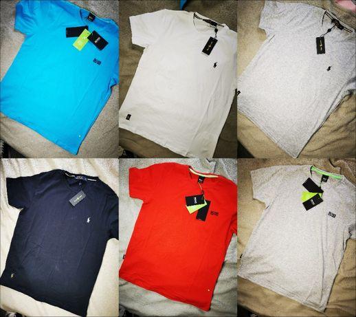 Koszulka męska mały znaczek Hugo Boss Ralph Lauren Shirt Premium