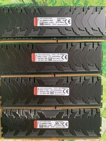 Оперативная память Kingston DDR4 16Gb (4x4Gb) 3200 MHz pc-25600 HyperX