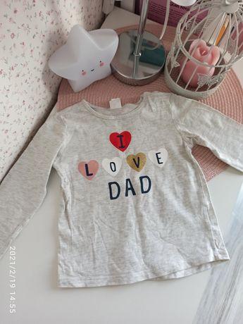 Bluzka i love dad H&M rozmiar 86