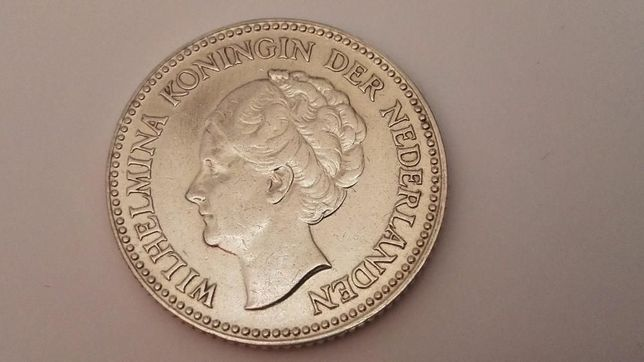 Moneta 1/2 Guldena Holandia 1930 srebro-Ag opcja wysyłki