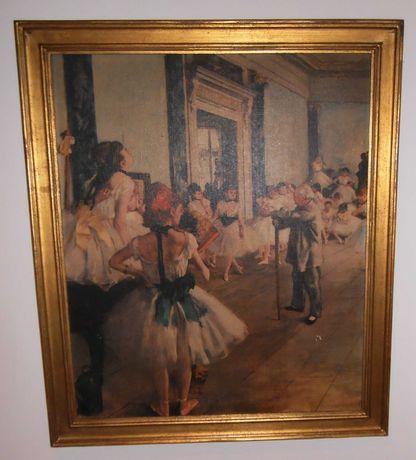 """Quadro RÉPLICA c/ moldura dourada:""""A classe de dança"""", DEGAS, 1874"""