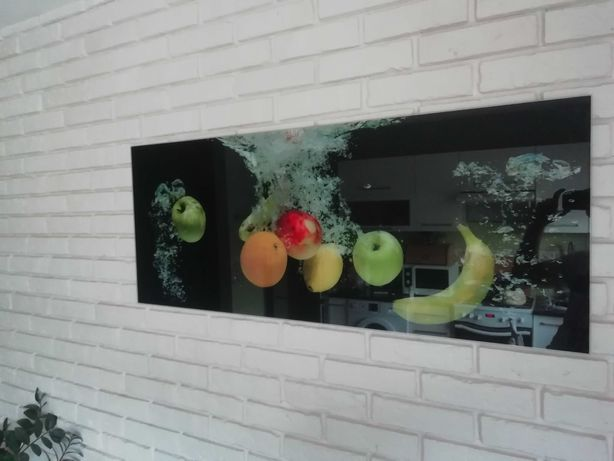 Obraz szklany owoce