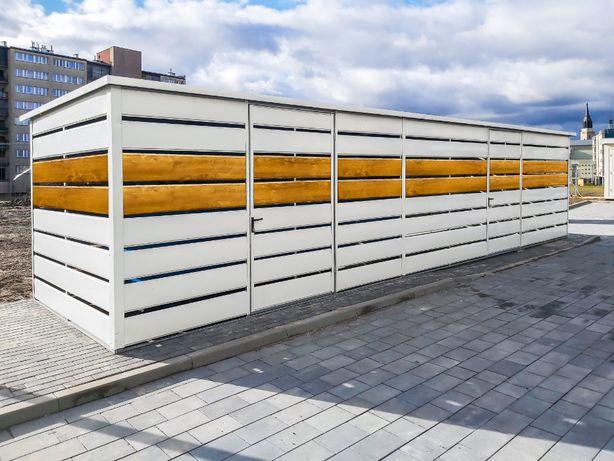 Wiata Śmietnikowa panelowa   śmietnik   altana 7x2,5m =TrashBox=