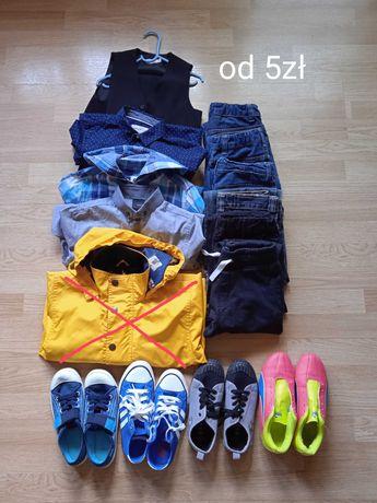 OKAZJA-CAŁY ZESTAW za 60zł. Ubrania i buty dla chłopca 128-140cm