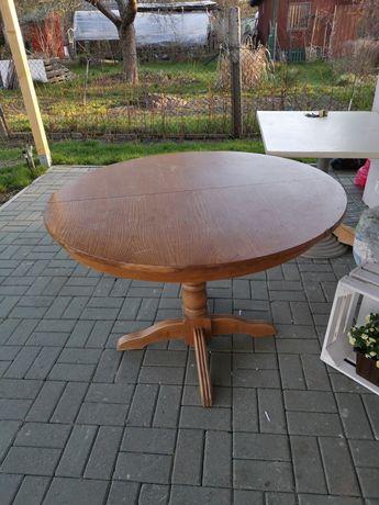 Sprzedam stół drewniany, rozkładany na 1 nodze