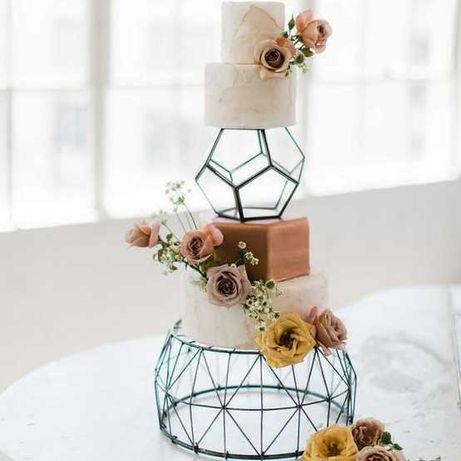 Металлическа подставка свадебный весільний торт підставка каркас декор