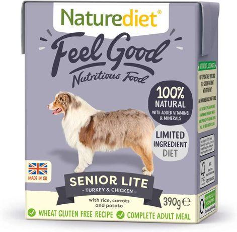 Naturediet Feel Good Senior KARMA DLA PSA 18 x 390g Indyk Kurczak